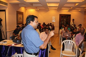 Dr.Thangaraj answering audience questions